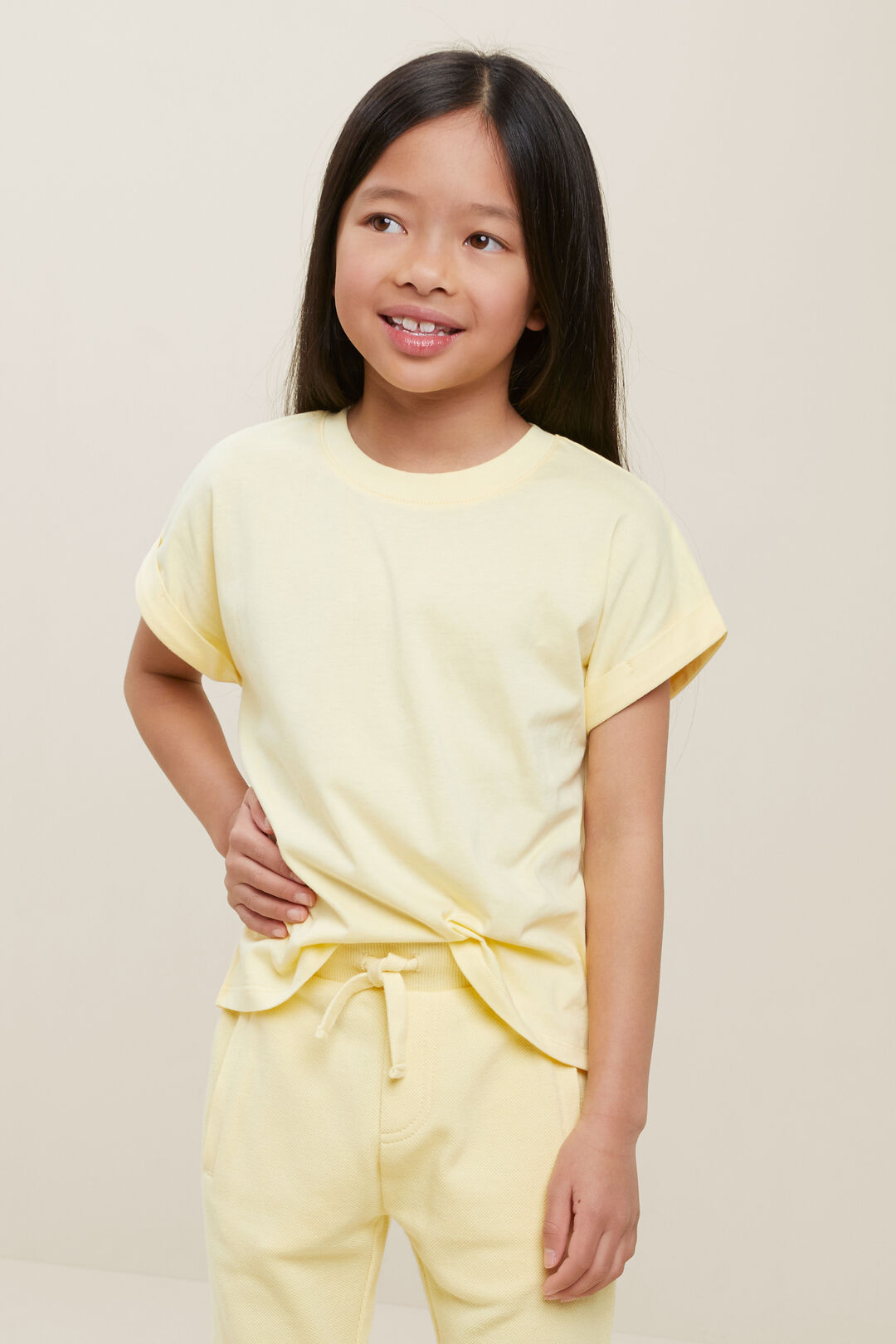 Rolled Cuff Tee  BUTTERCUP  hi-res