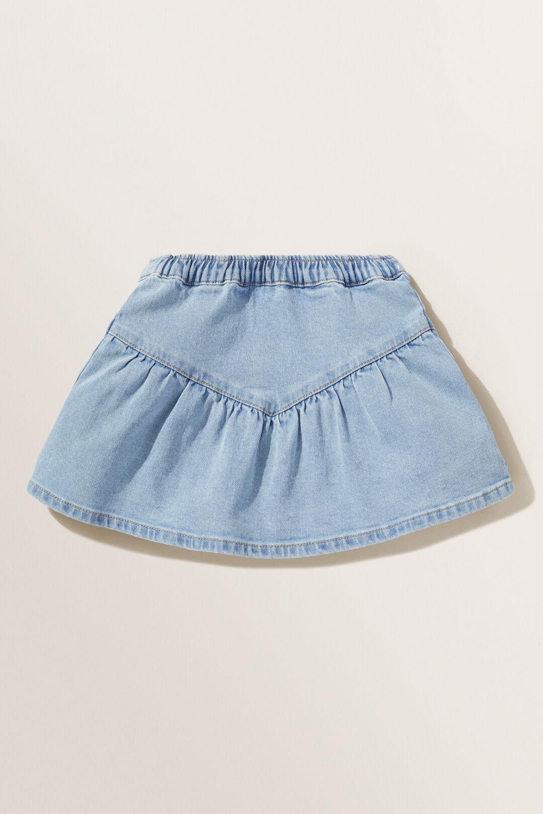 Frill Denim Skirt  CLASSIC WASH  hi-res