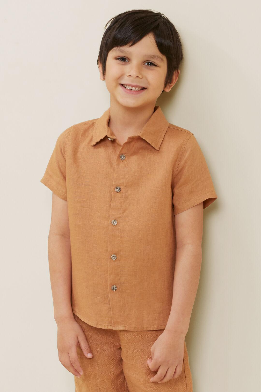Child Linen Shirt  AMBER  hi-res