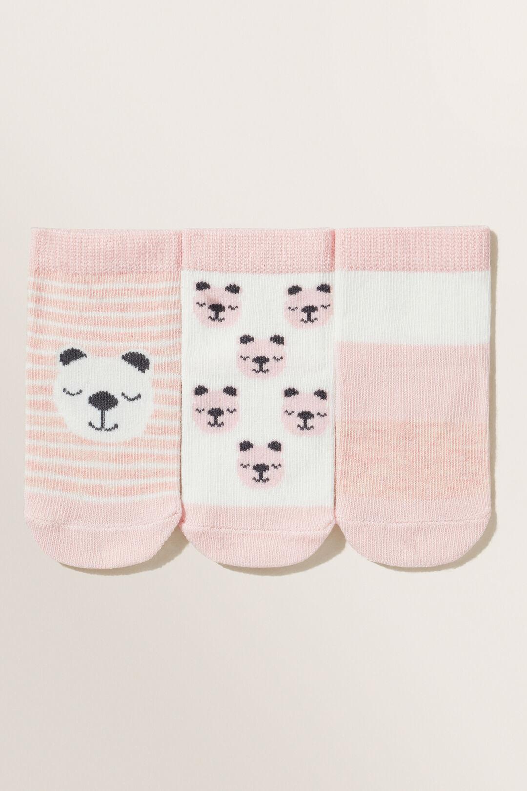 Bear Socks  DUSTY ROSE  hi-res