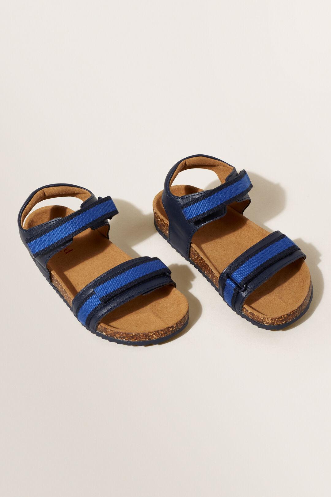 Double Tape Strap Sandal  NAVY  hi-res