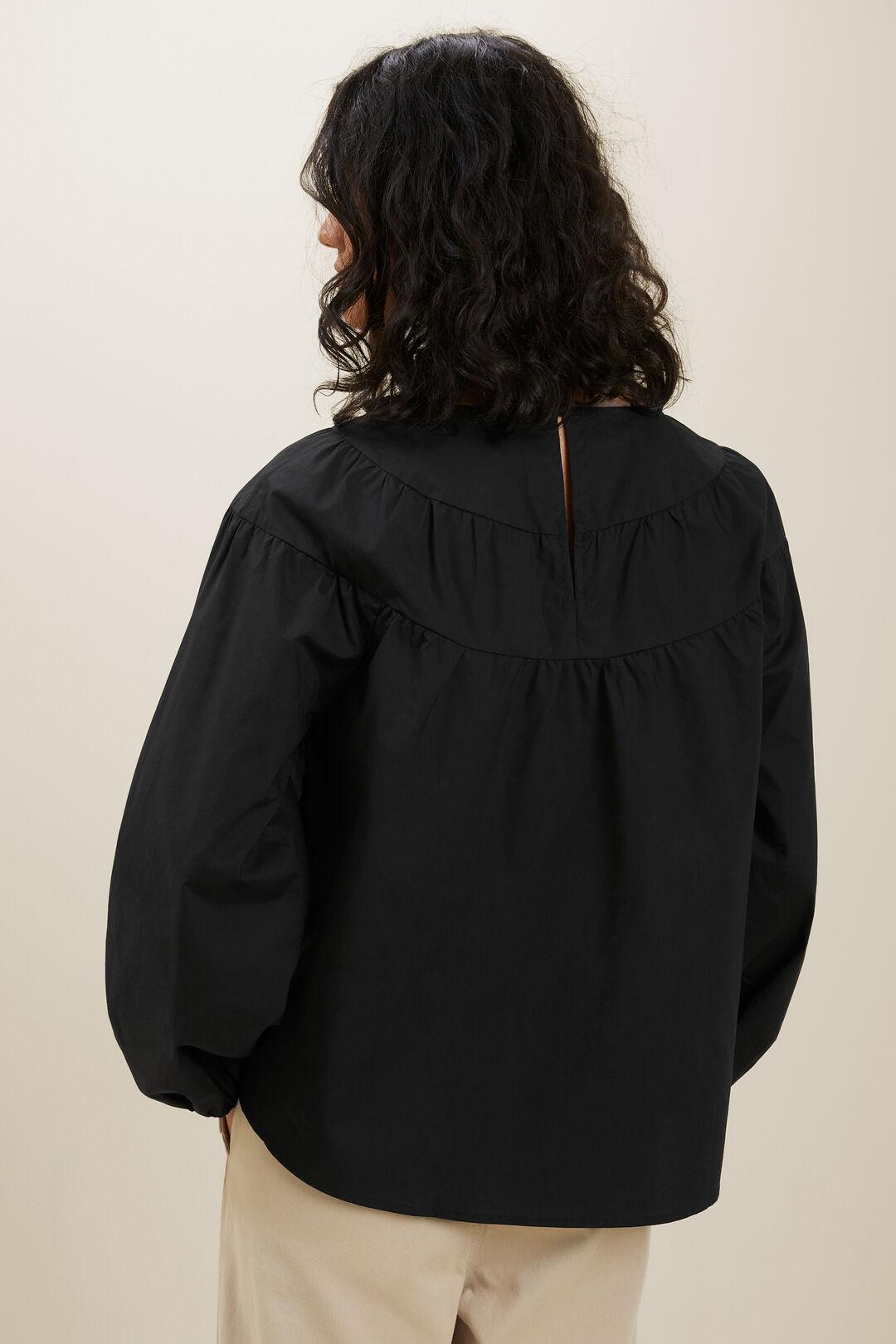 Poplin Blouse  BLACK  hi-res