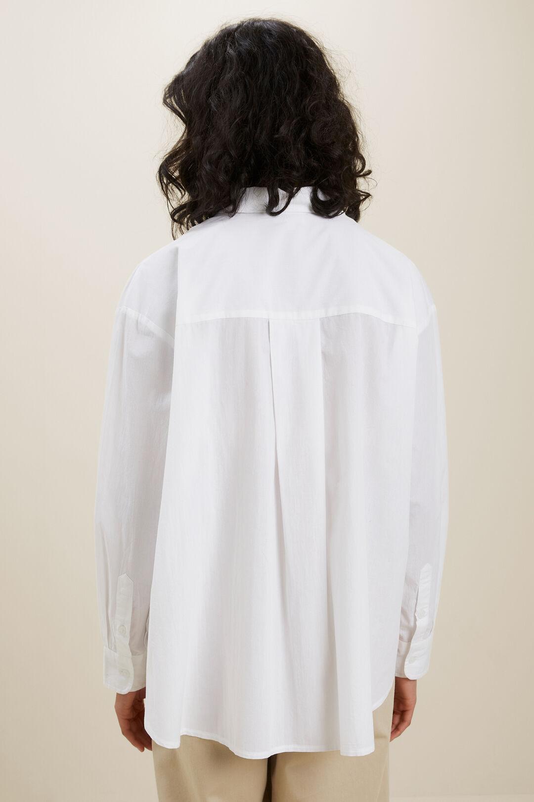 Voile Button Down Shirt  WHISPER WHITE  hi-res