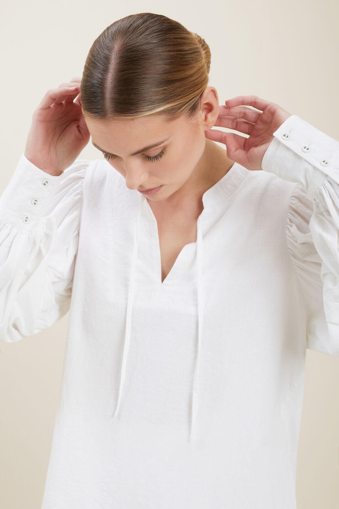 Blouson Sleeve Blouse  WHISPER WHITE  hi-res