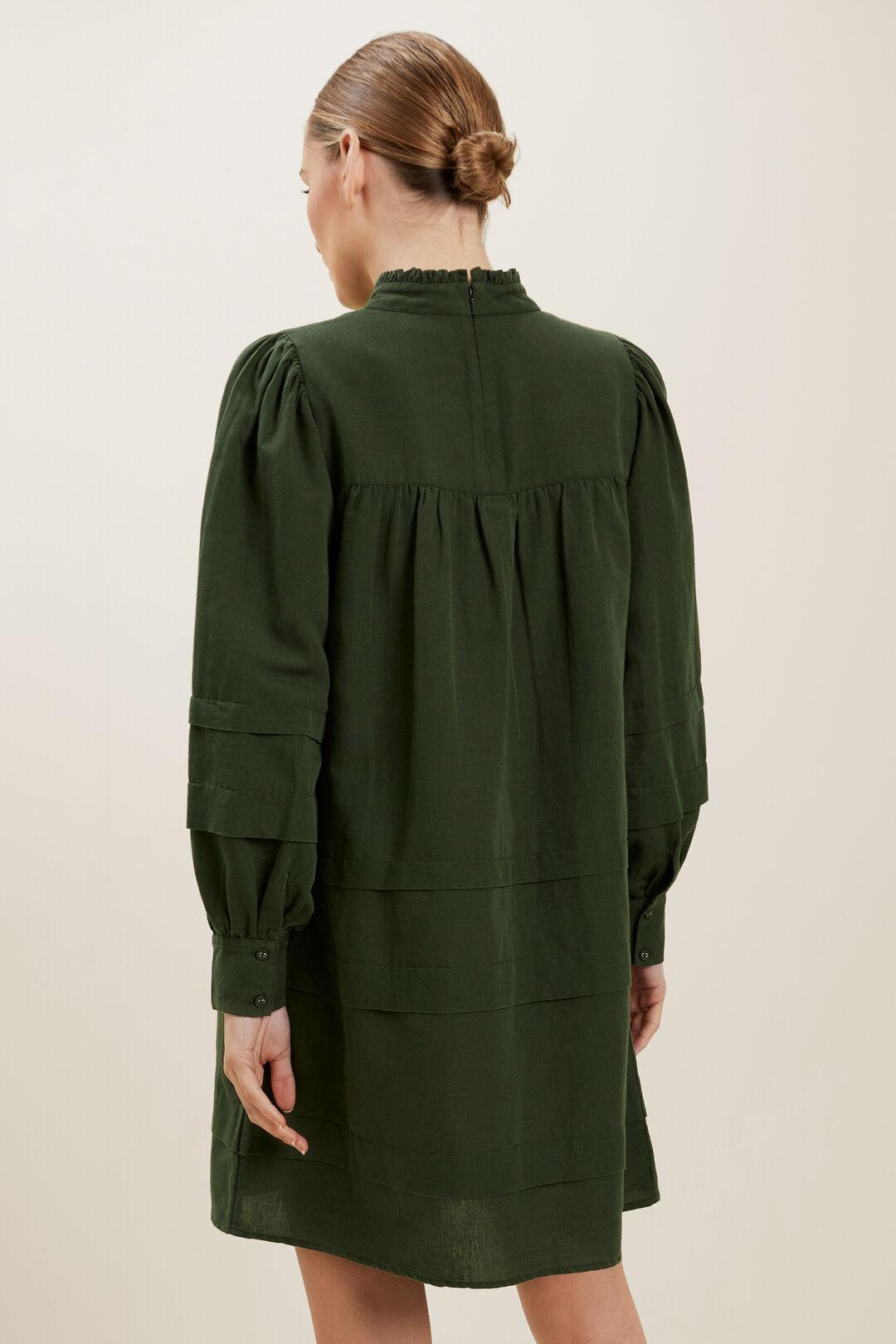 Linen Blend Mini Dress  BASIL  hi-res