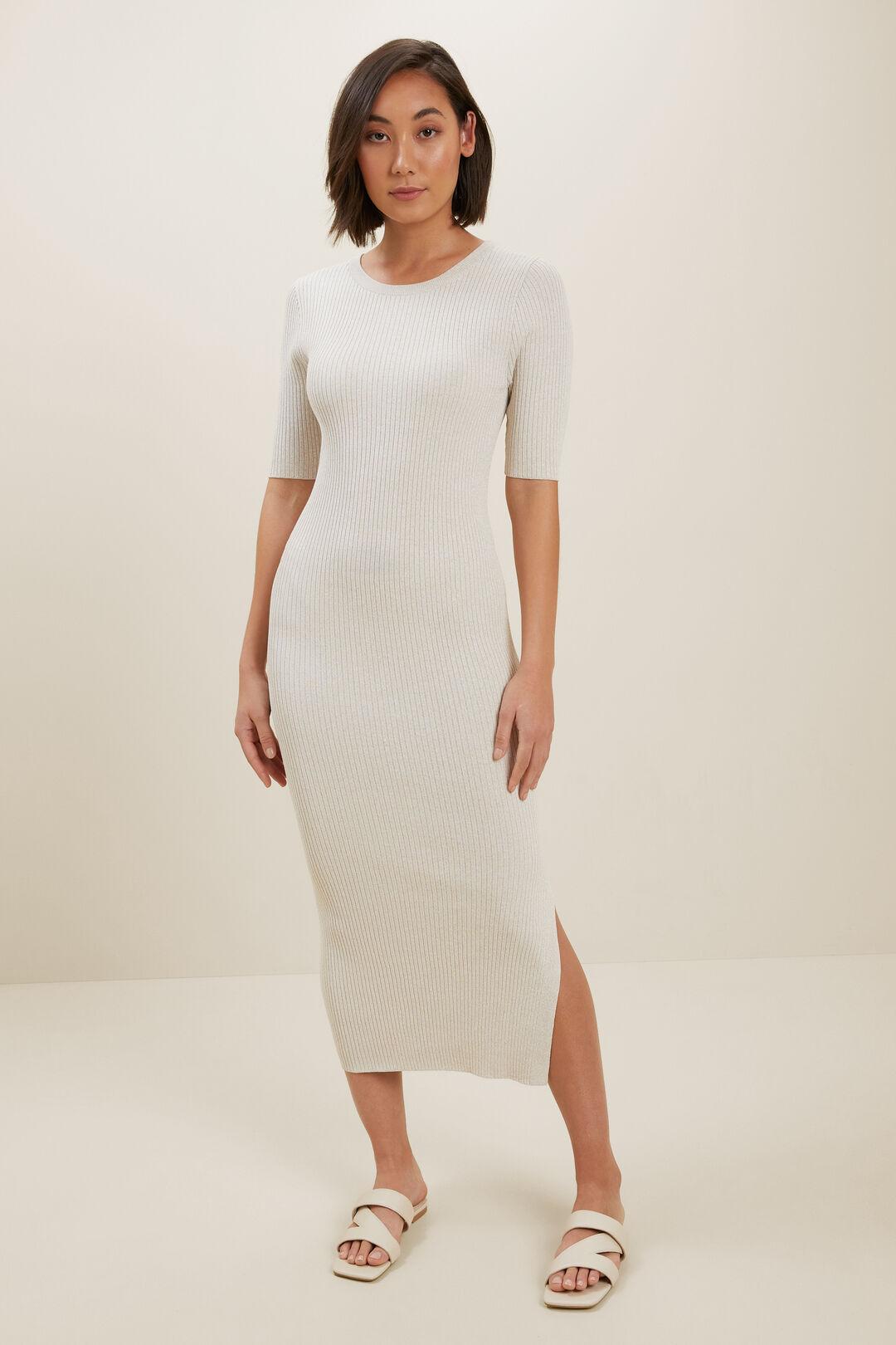 Marle Knit Midi Dress  LATTE MARLE  hi-res