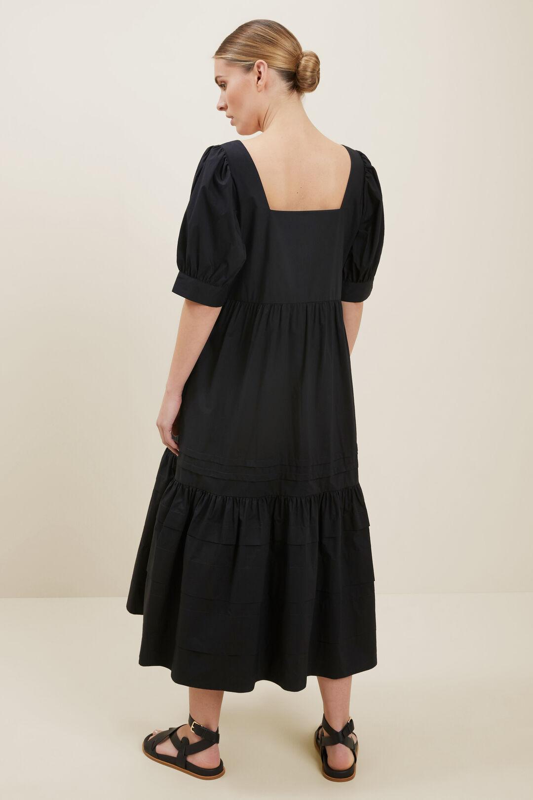 Poplin Pintuck Dress  BLACK  hi-res
