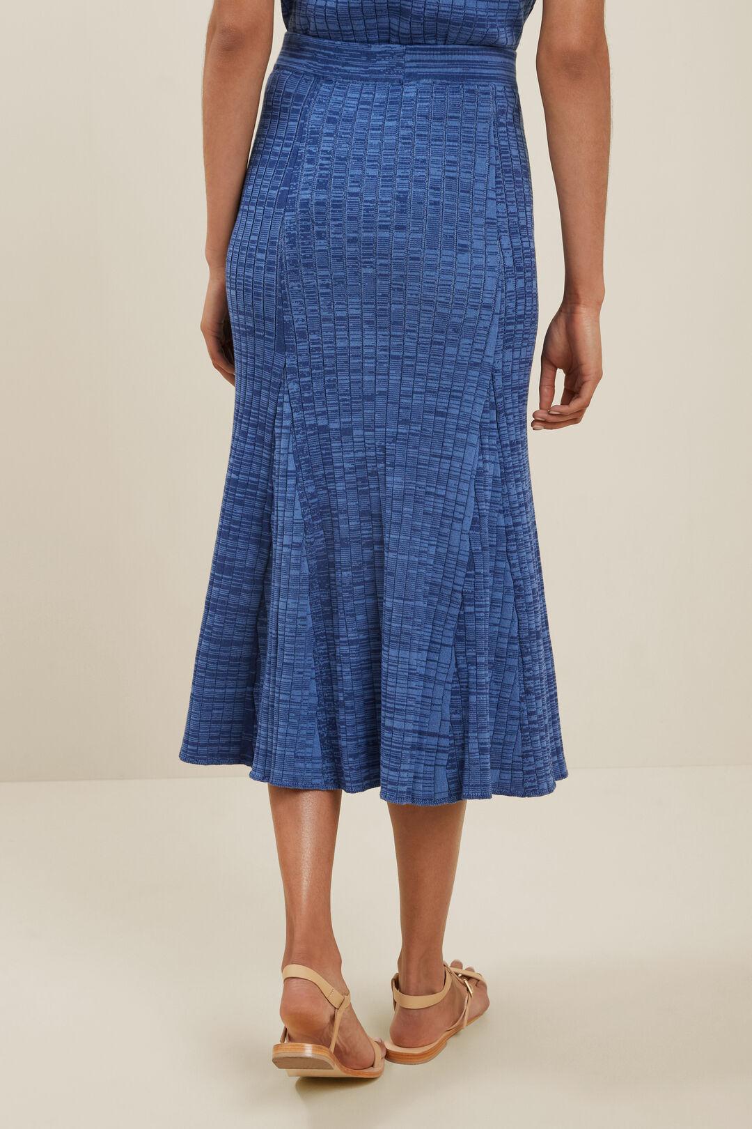 Sustainable Rib Godet Skirt  EGGSHELL SPACEDYE  hi-res
