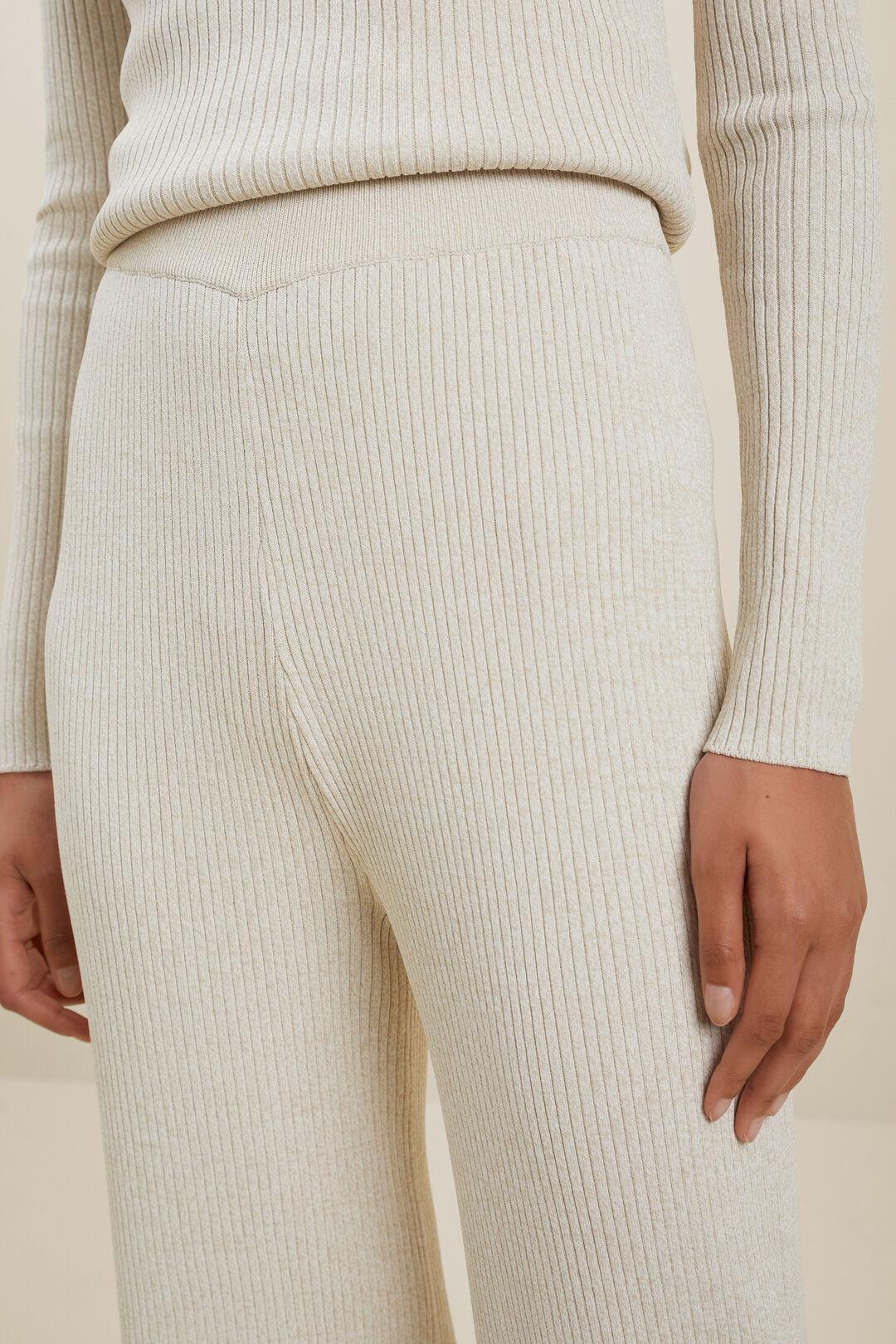 Marle Knit Wide Leg Pant  LATTE MARLE  hi-res