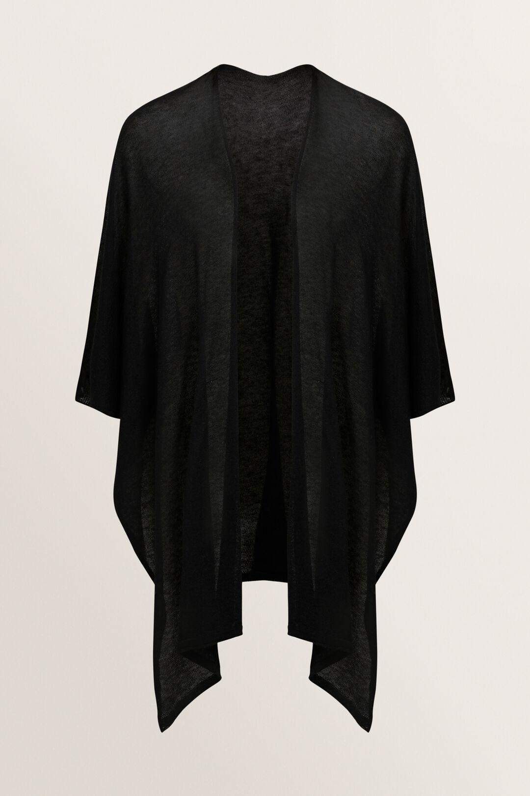 Light Knit Poncho  BLACK  hi-res