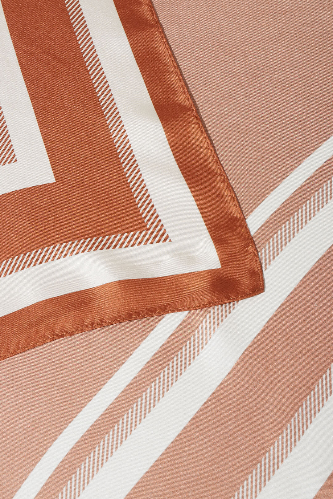 Penny Silk Scarf  EARTH RED  hi-res