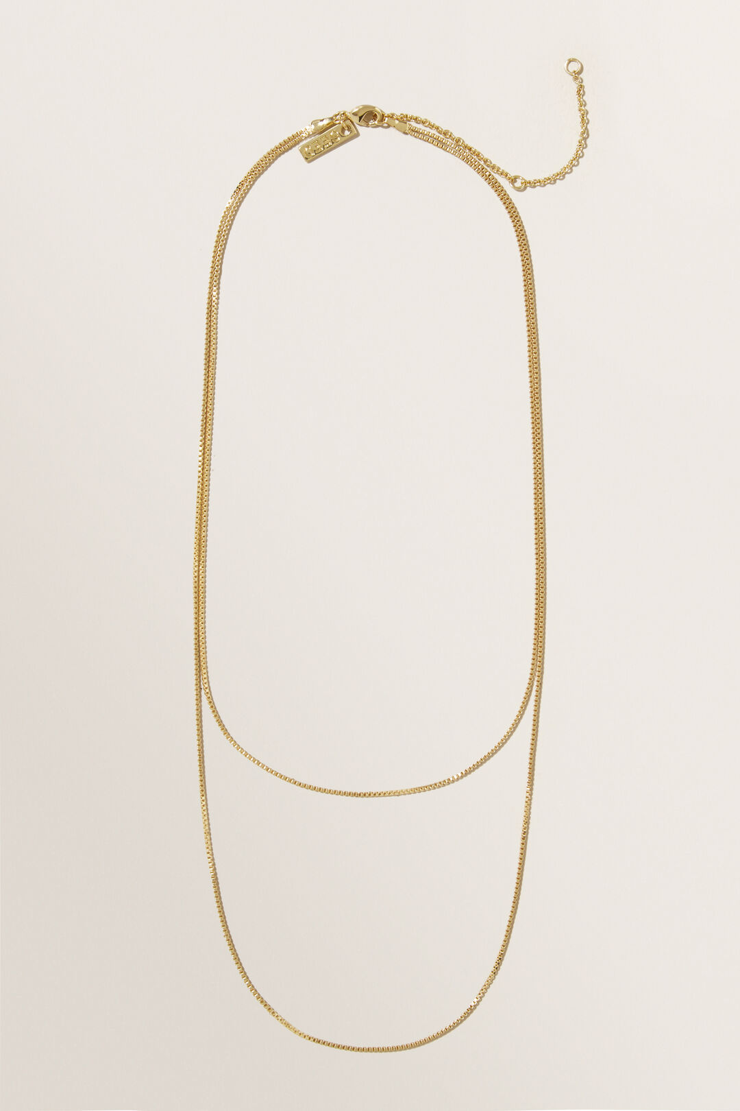 Fine  Layered  Necklace  GOLD  hi-res