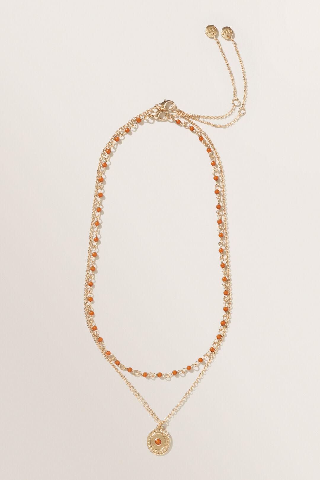 Bead Pendant Necklace  GOLD  hi-res
