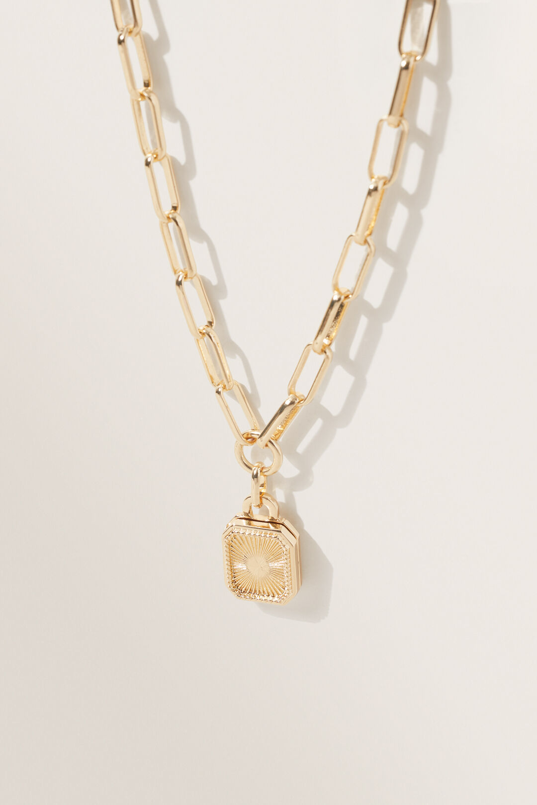 Chain Locket Necklace  GOLD  hi-res