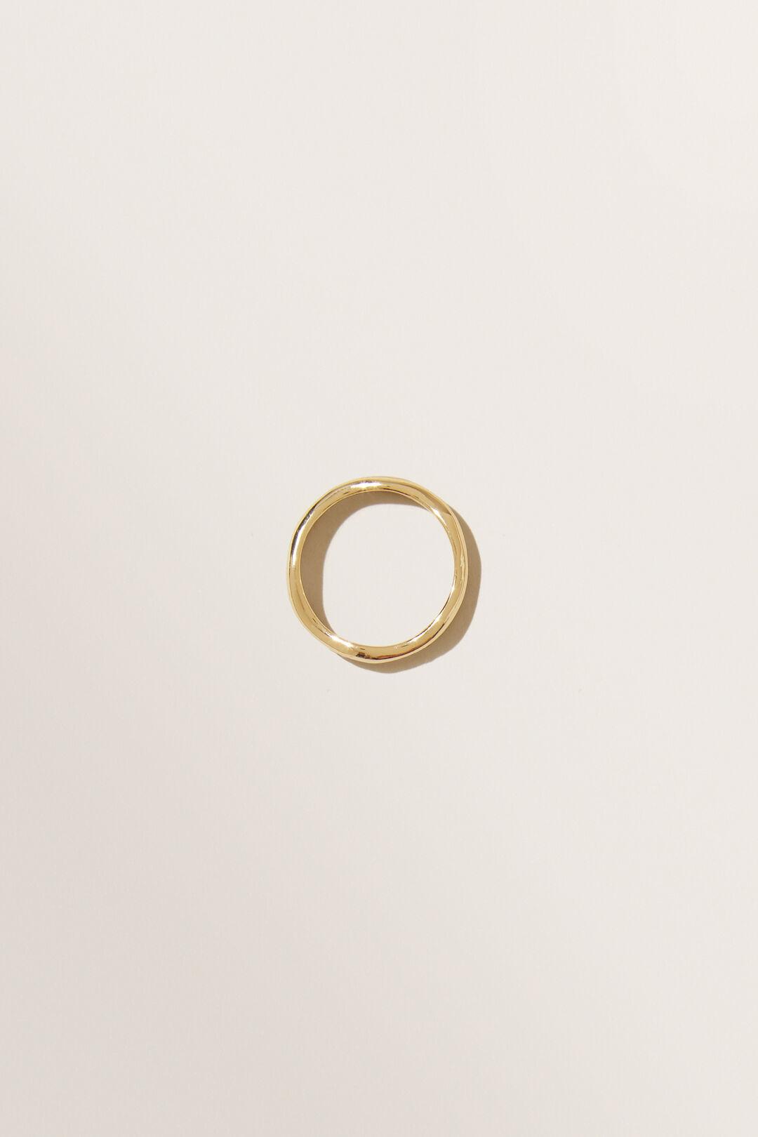 Fine Organic Ring  GOLD  hi-res