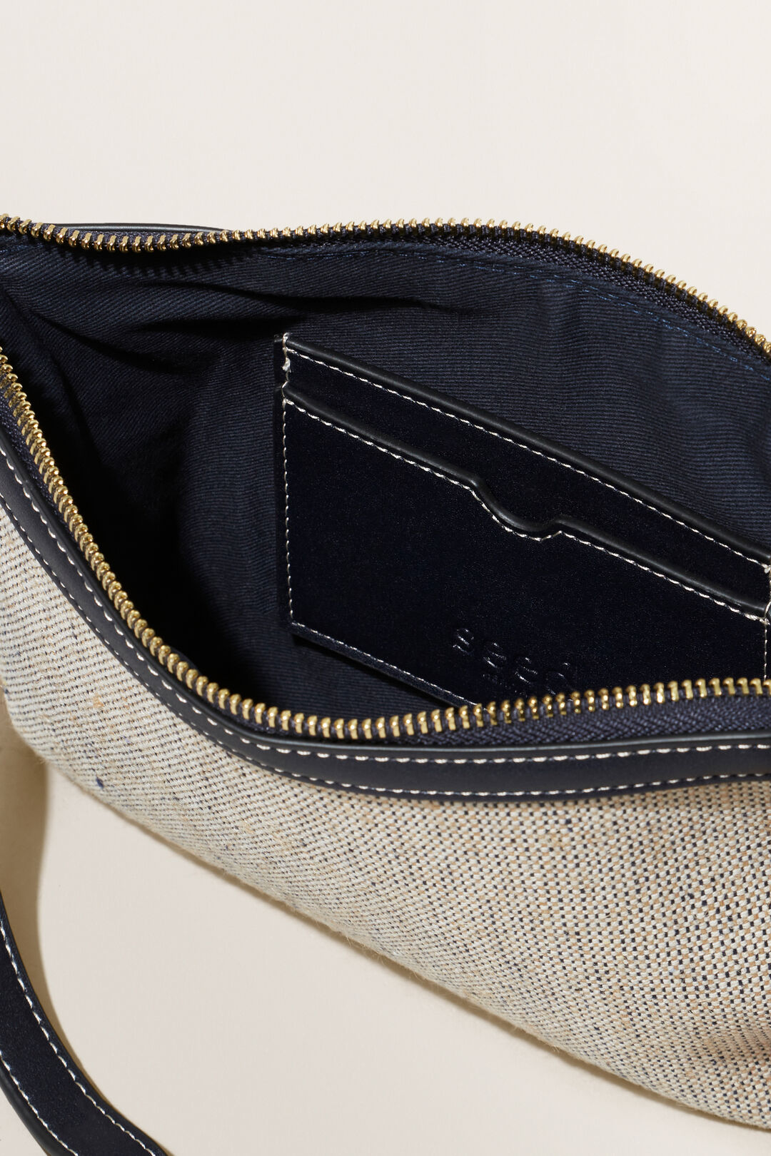 Textured Fabric Pouch  DEEP NAVY  hi-res