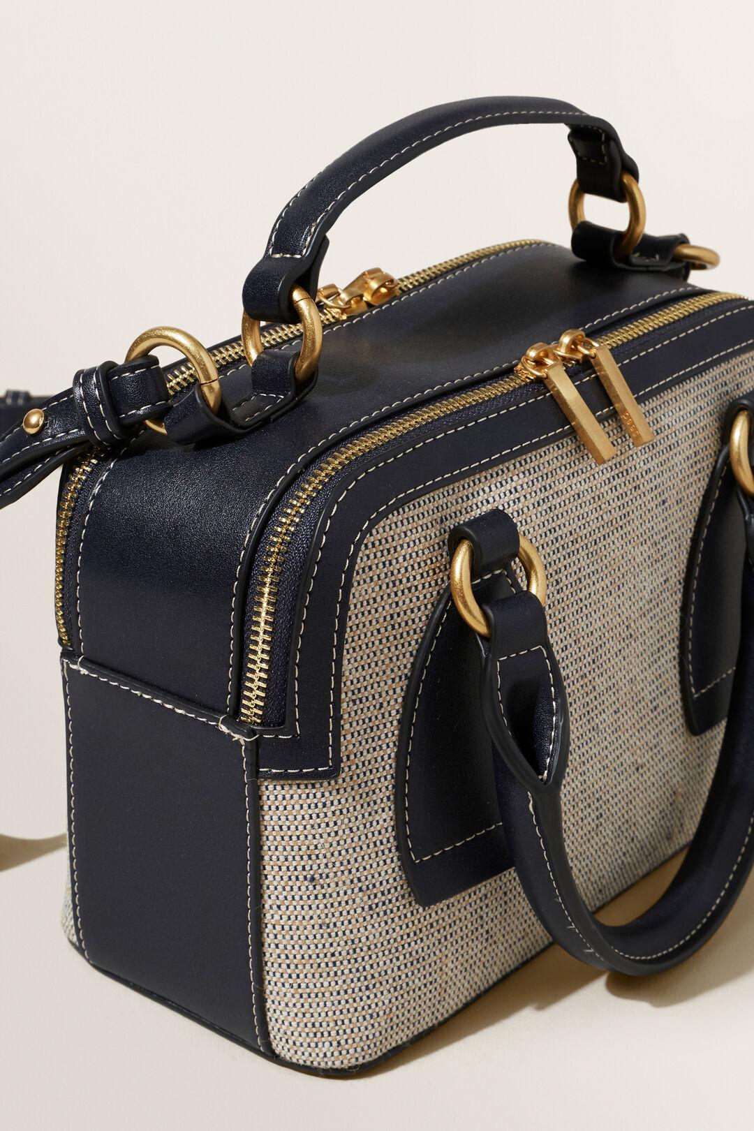 Textured Fabric Sling Bag  DEEP NAVY  hi-res