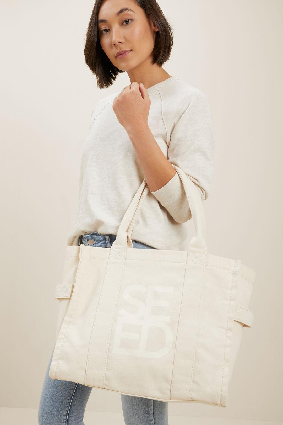Seed Canvas Tote Bag  CLOUD CREAM  hi-res
