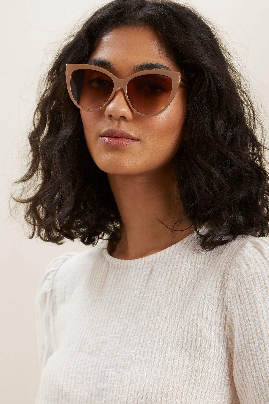 Amelia Cat Eye Sunglasses  ALMOND  hi-res