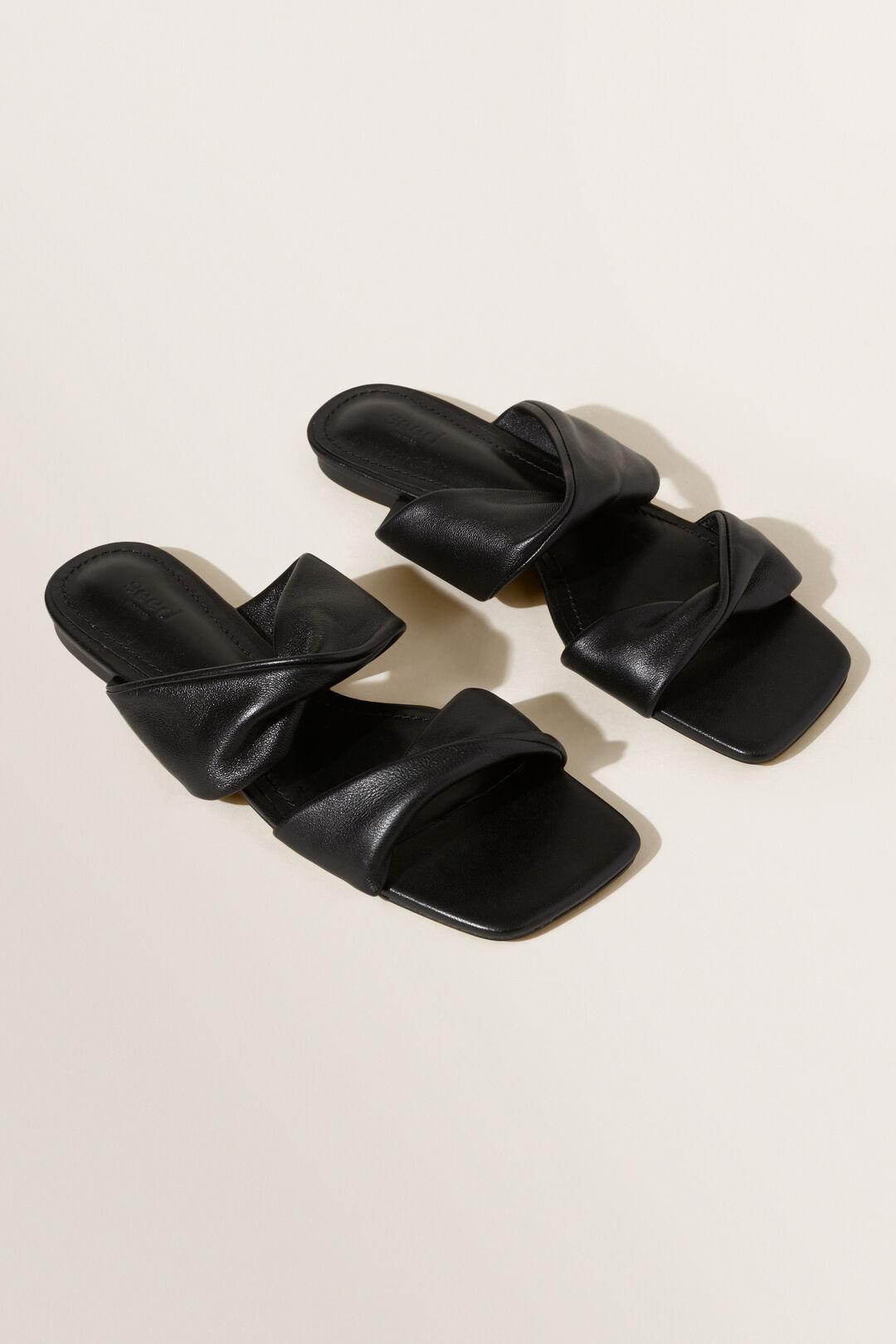 Arielle Flat Sandal  BLACK  hi-res