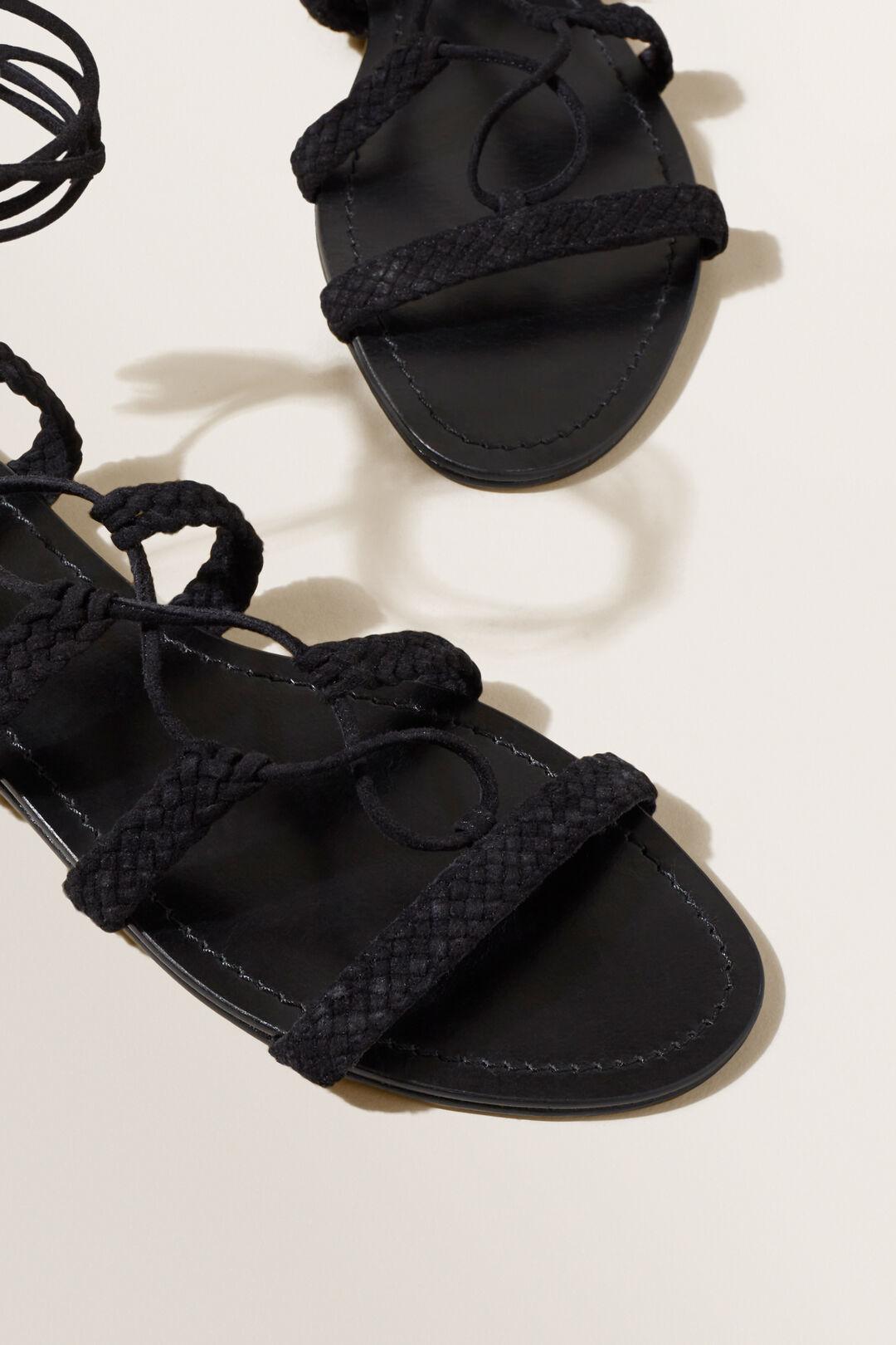 Gianna Gladiator Sandal  BLACK SUEDE  hi-res