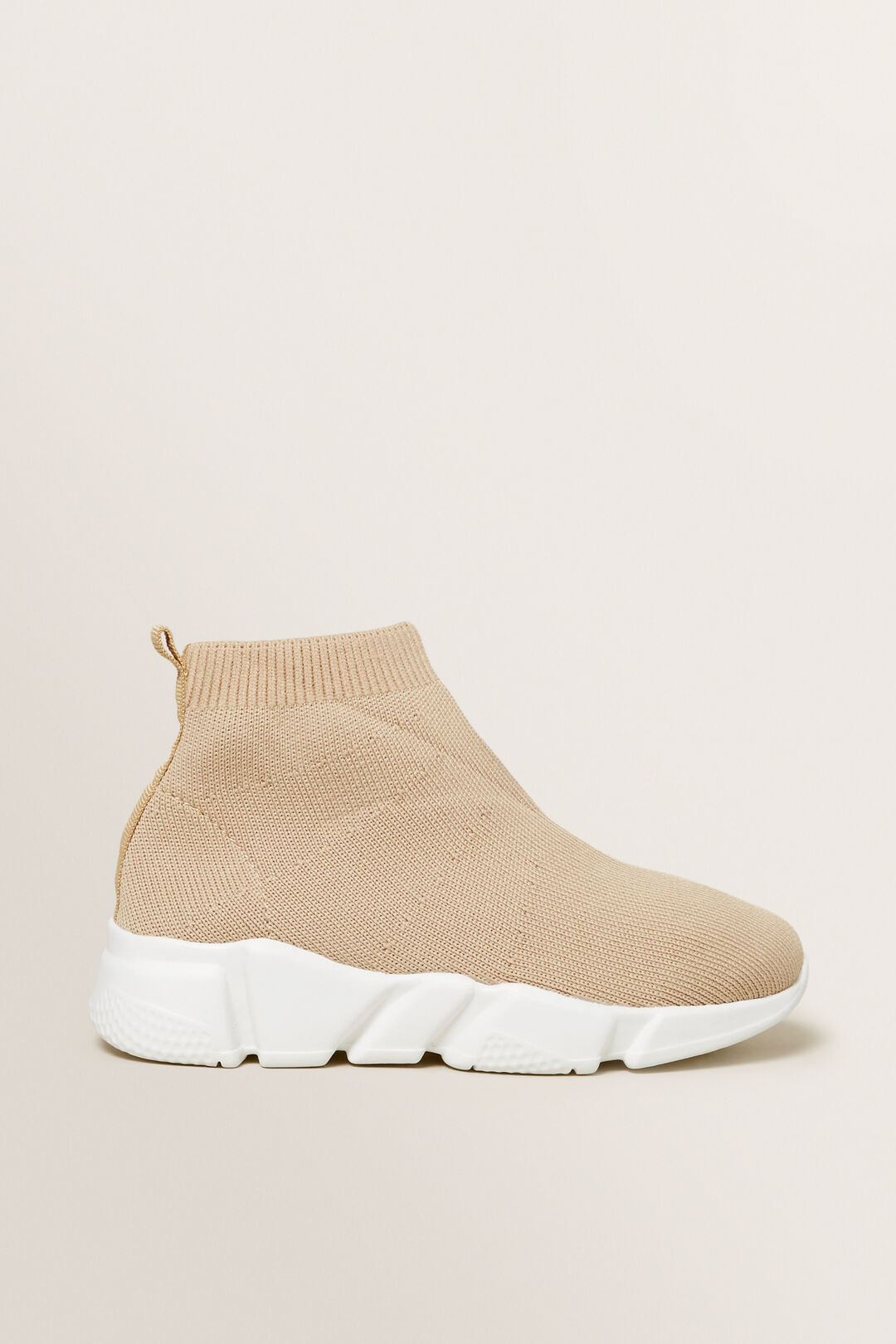 Knitted Sock Trainer  STONE  hi-res