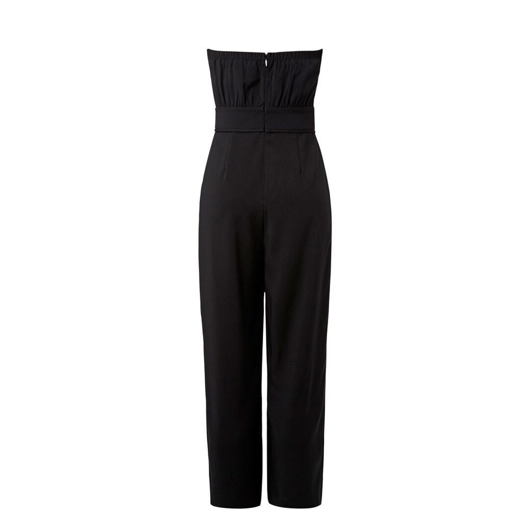 Strapless Flare Jumpsuit  BLACK  hi-res