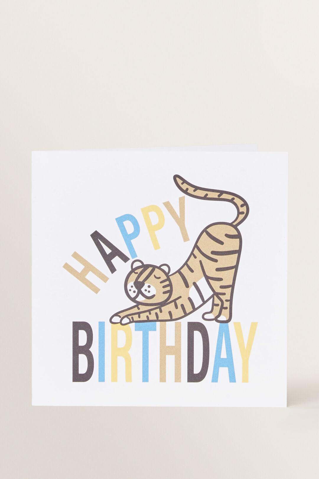 Large Tiger Happy Birthday Card  MULTI  hi-res