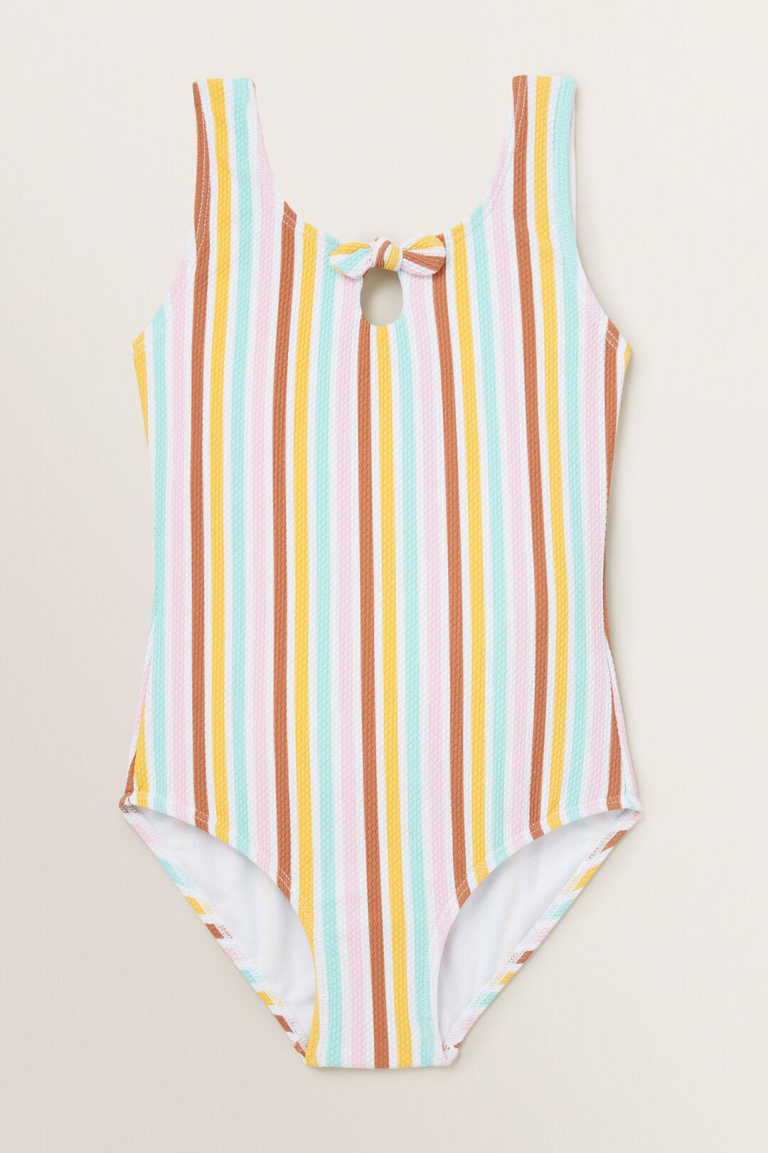 Stripe Bow Bather  MULTI  hi-res