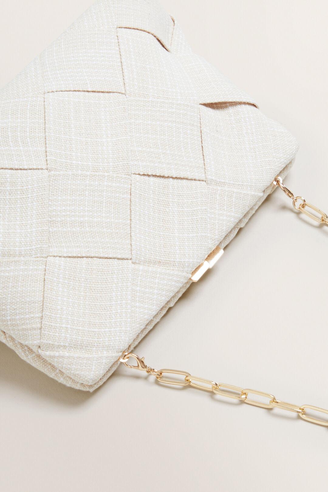 Weave Frame Clutch  NATURAL  hi-res