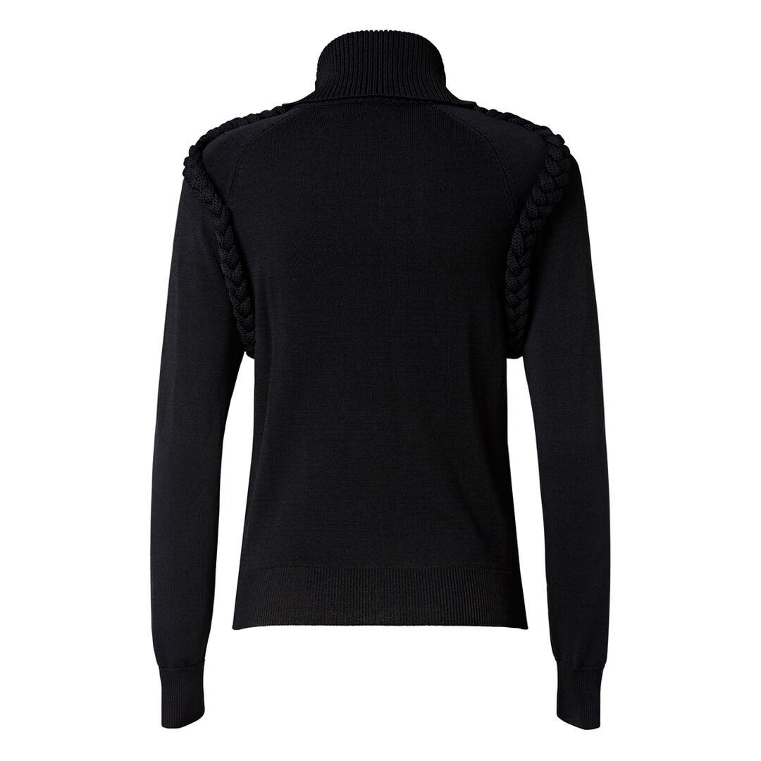 Plaited Crepe Sweater  BLACK  hi-res