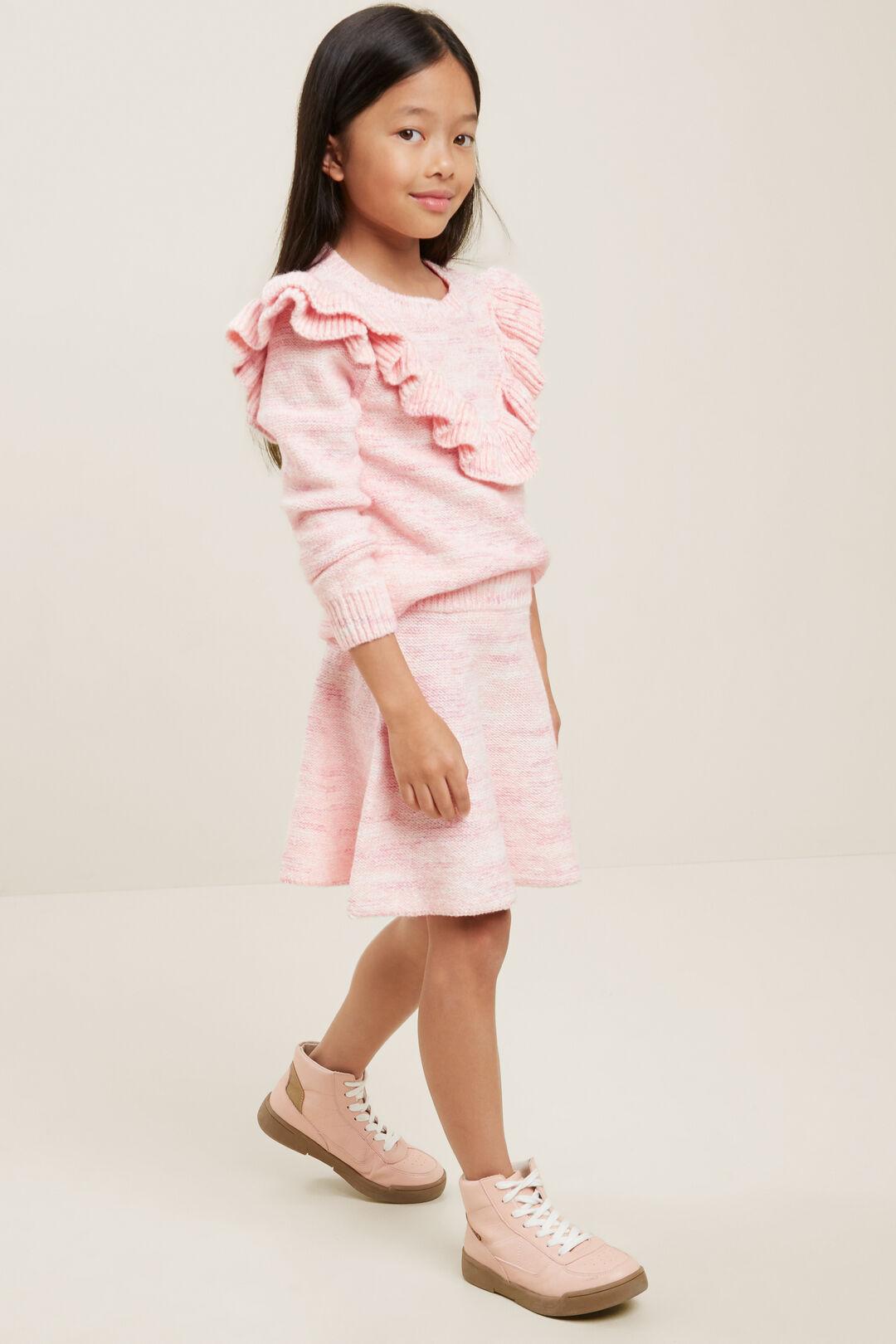 Knit Skirt  BERRY  hi-res
