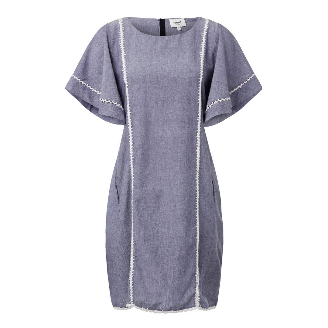 Cross Dye Crochet Dress  CROSS DYE INDIGO  hi-res