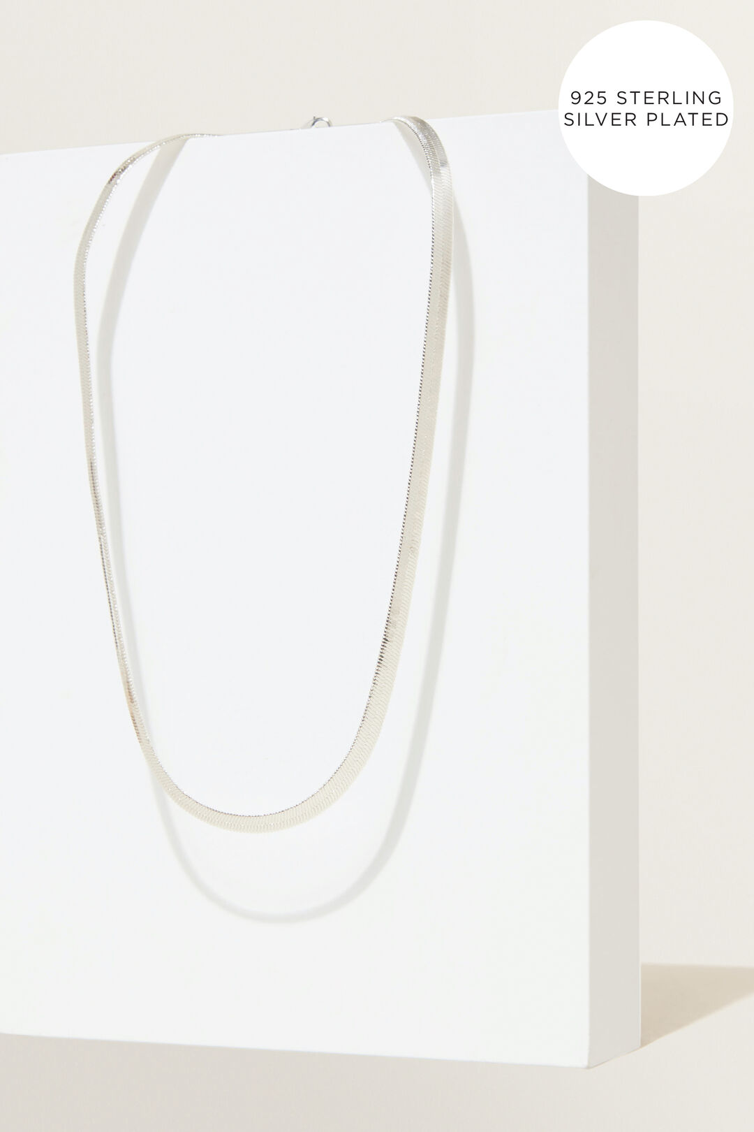 Fine Snake Chain Necklace  SILVER  hi-res