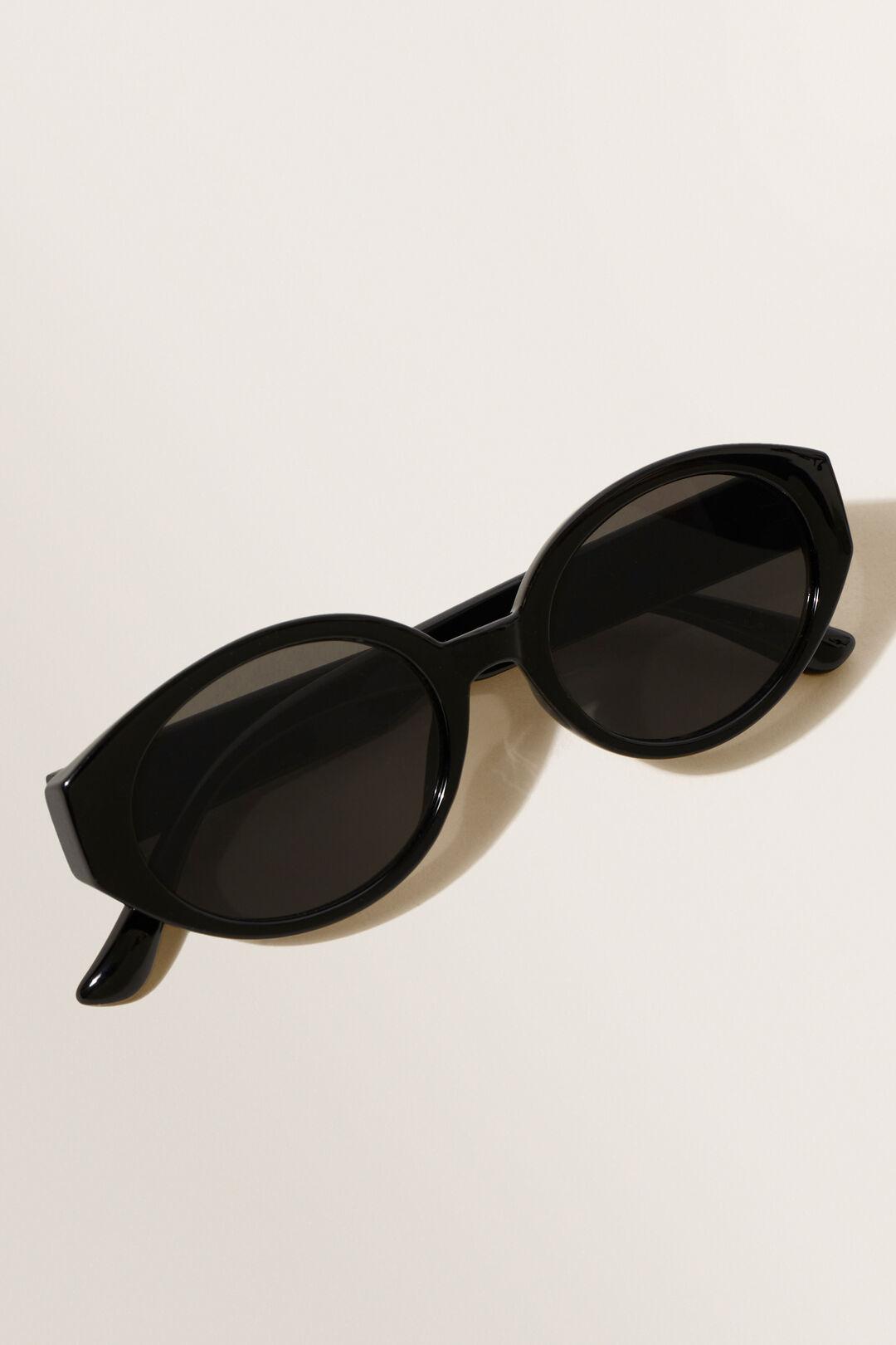 Oval Sunglasses  BLACK  hi-res