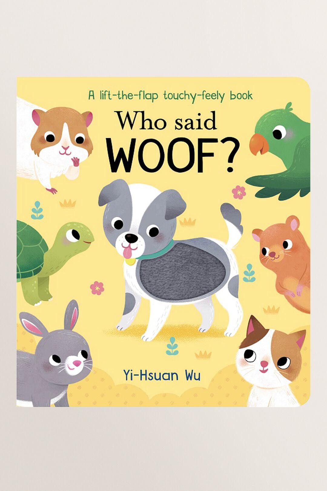 Who Said Woof? Book  MULTI  hi-res