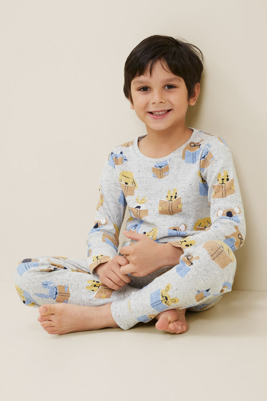 Read With Seed ALNF Pyjamas  CLOUDY MARLE  hi-res