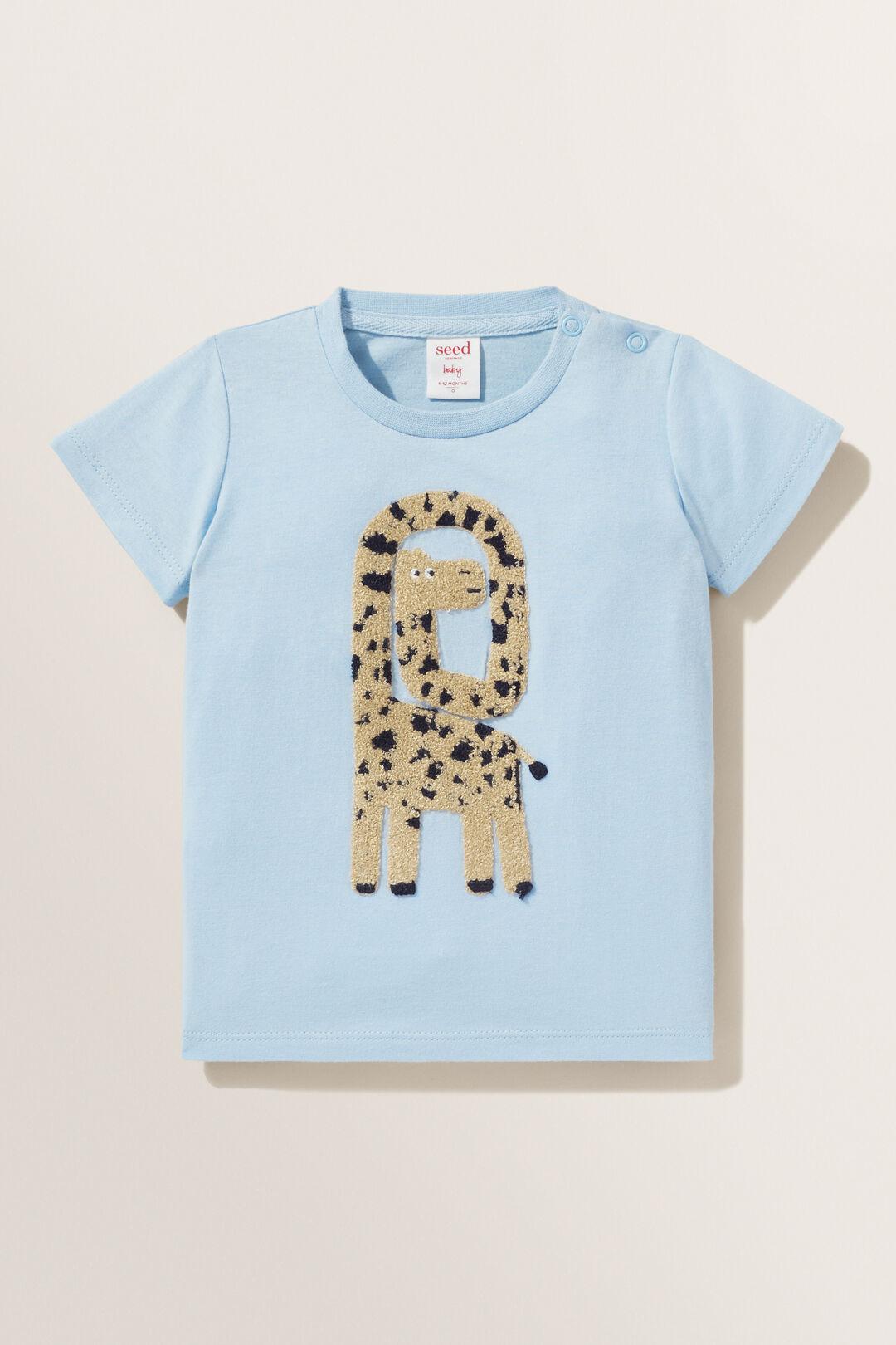Giraffe Tee  PALE BLUE  hi-res