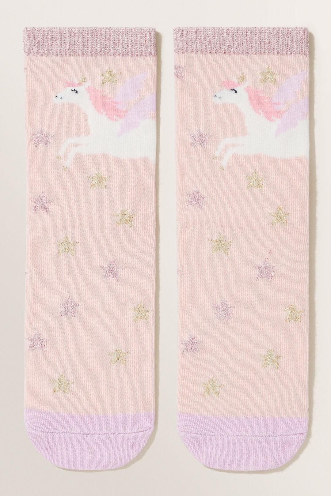 Unicorn Socks  DUSTY ROSE  hi-res