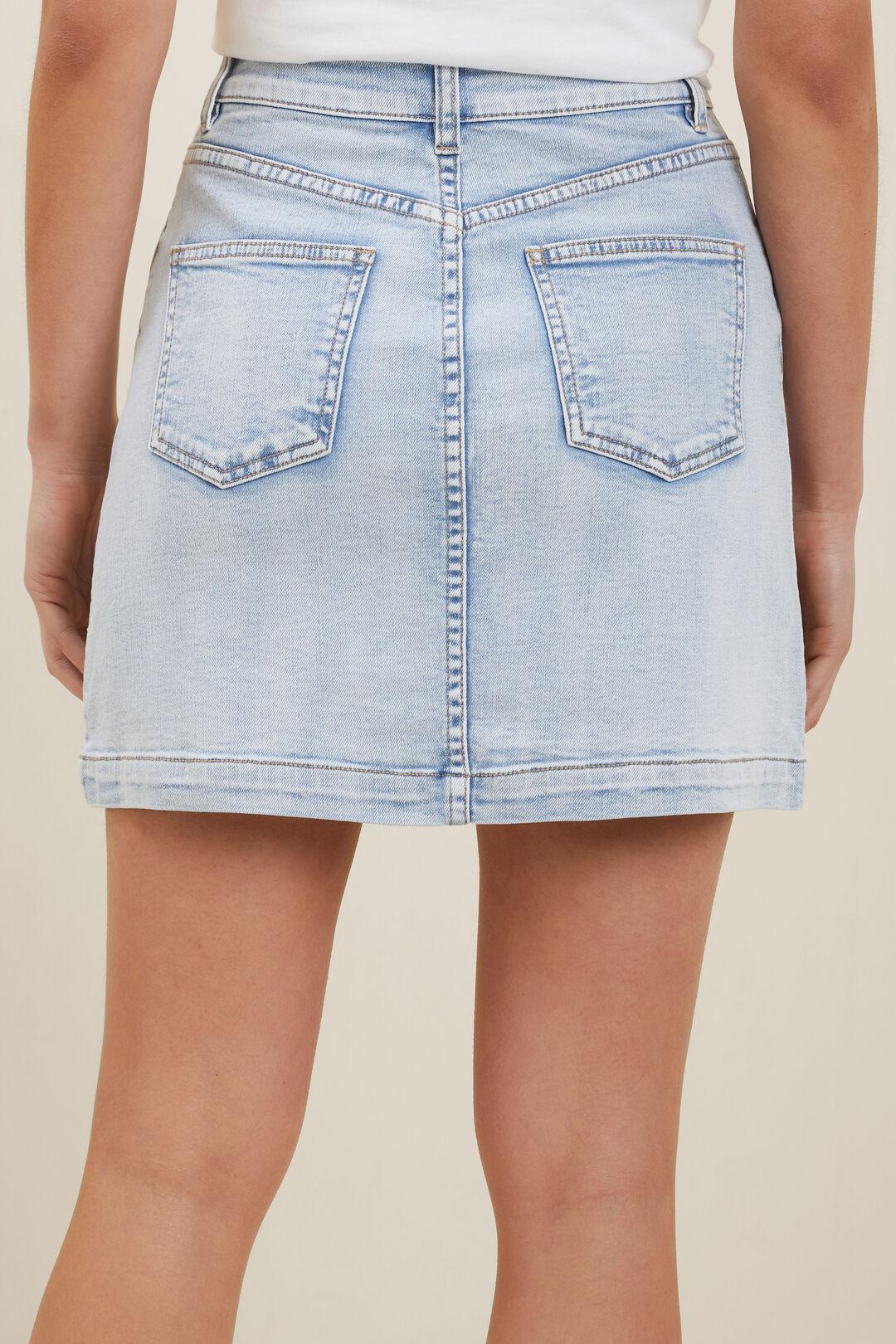 Denim A Line Mini Skirt  SKY BLUE RINSE  hi-res