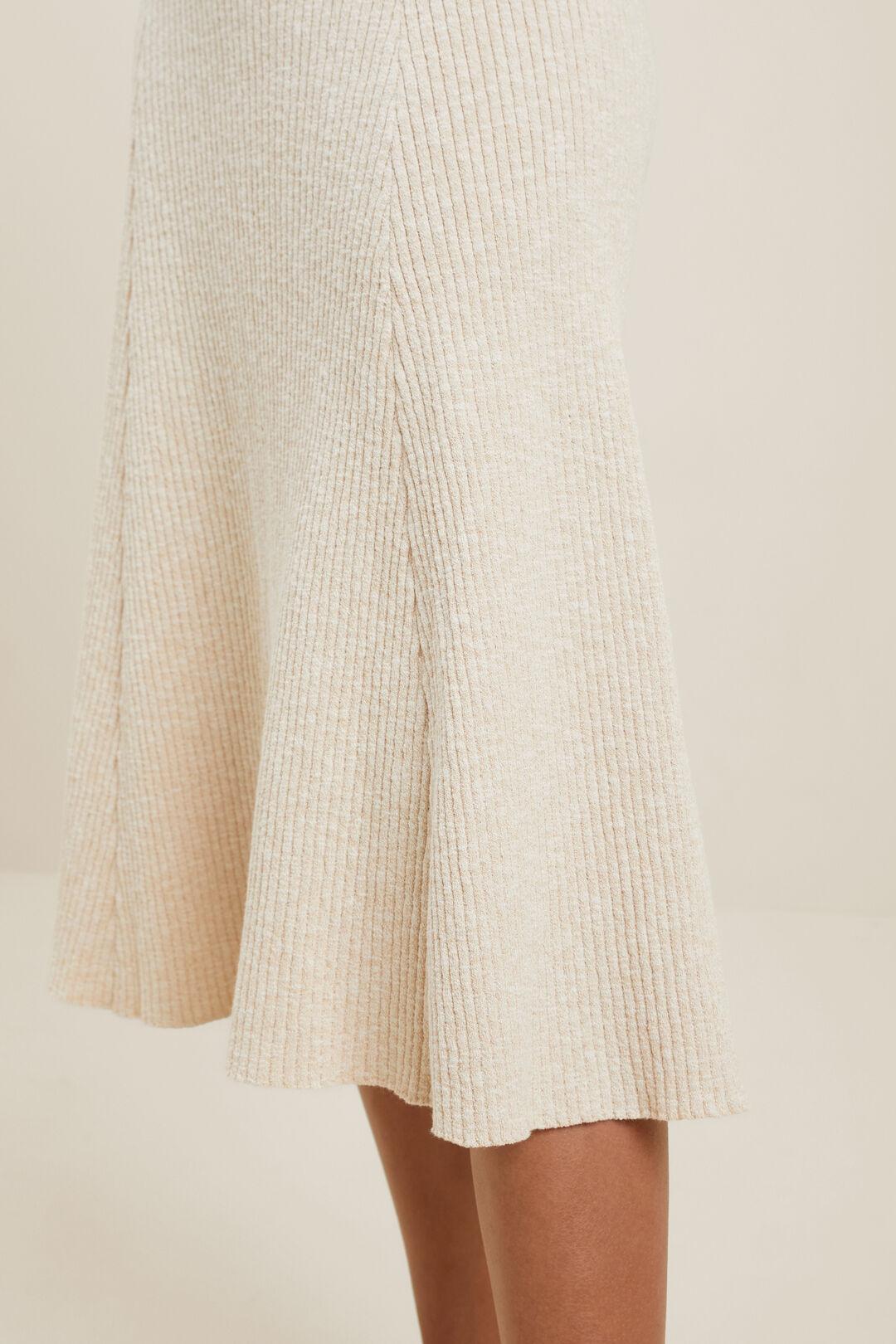 Knitted Midi Skirt  CLOUD CREAM MARLE  hi-res