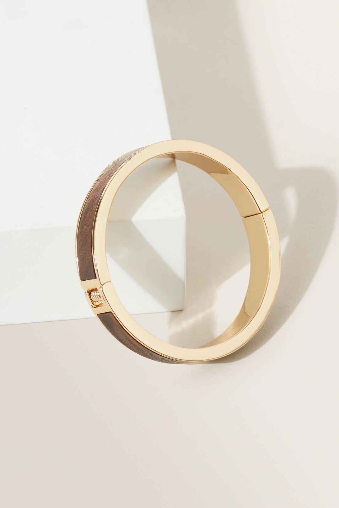 Wood Inlay Bangle  GOLD  hi-res