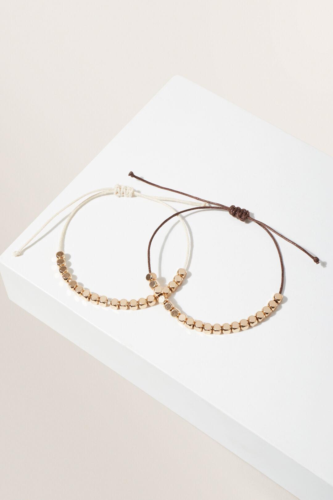 Cord Bead Bracelets  MULTI  hi-res