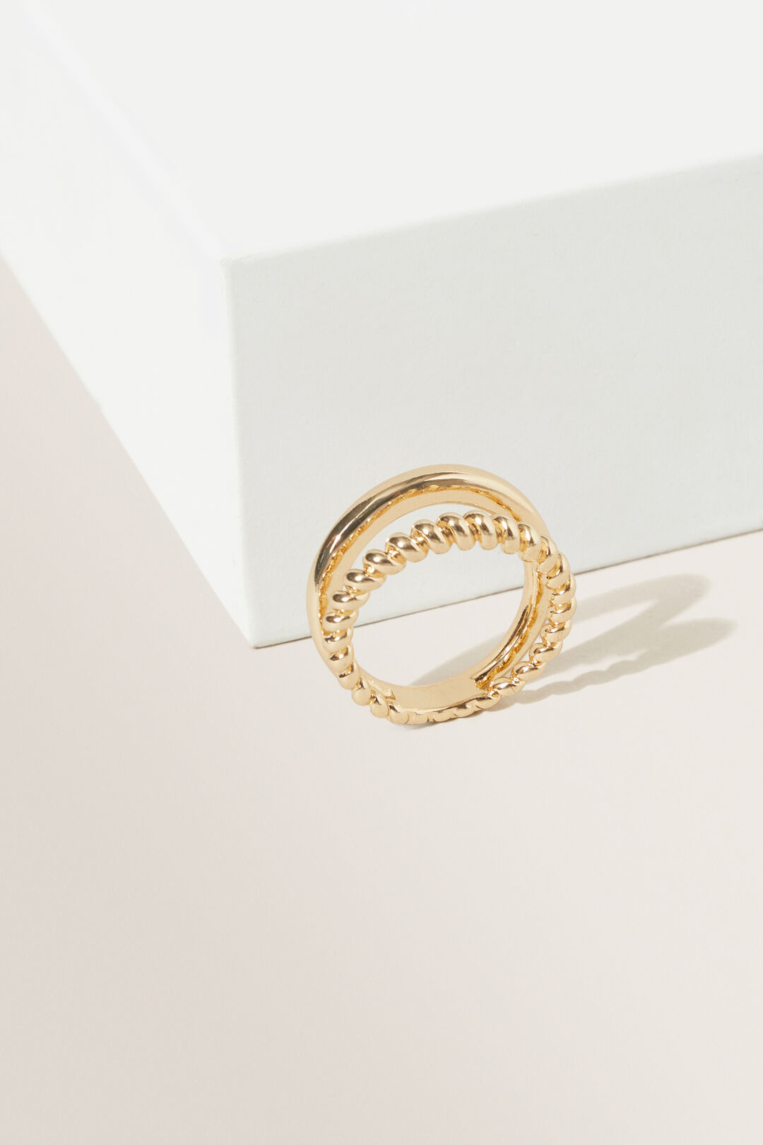 Twisted Duo Ring  GOLD  hi-res