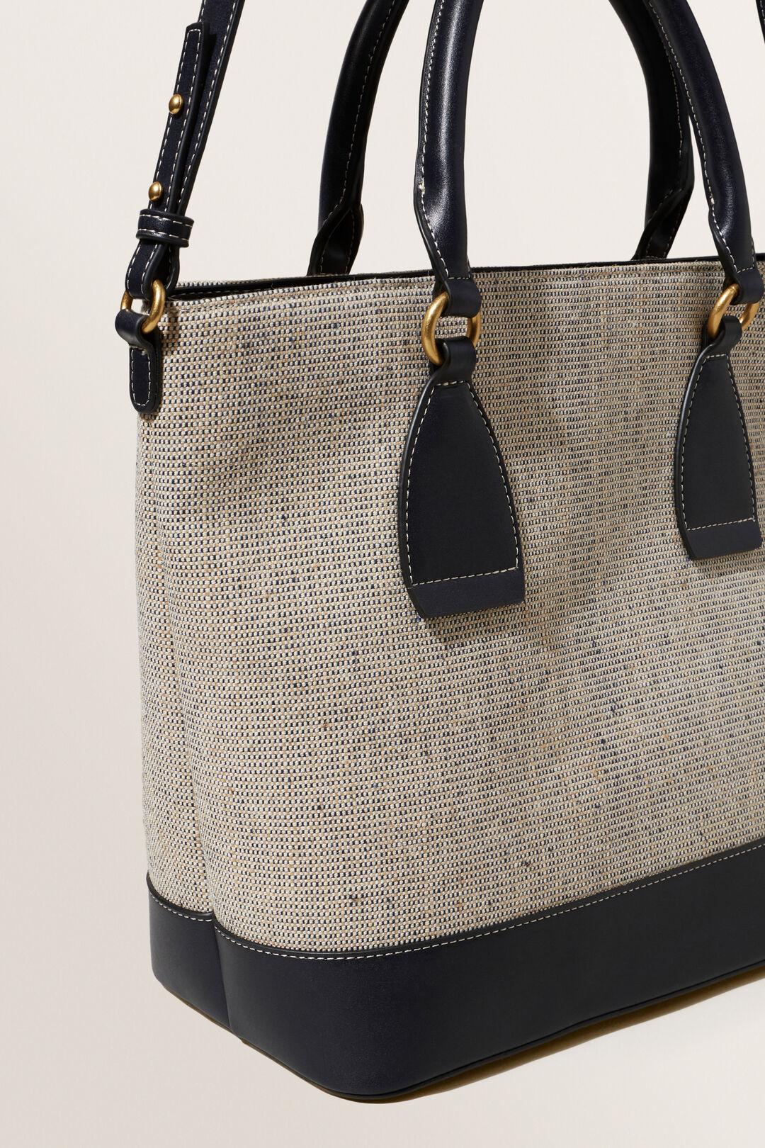 Textured Fabric Tote  DEEP NAVY  hi-res