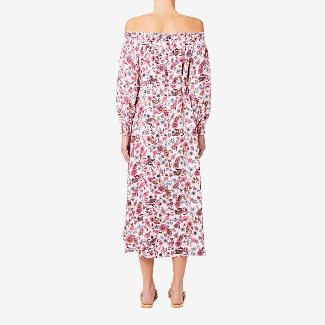 Off Shoulder Floral Maxi  FLORAL  hi-res