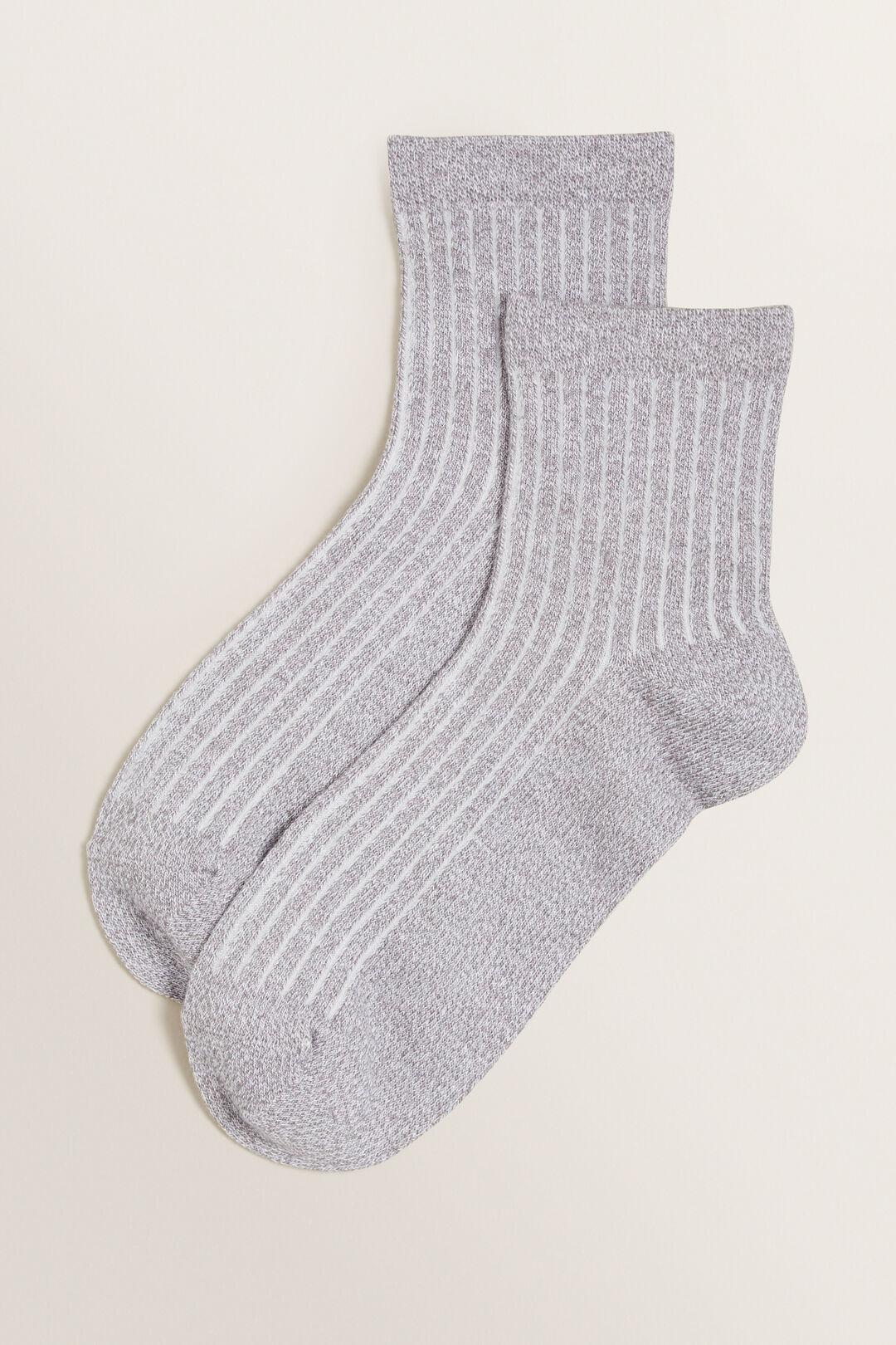 1/4 Crew Socks  GREY  hi-res