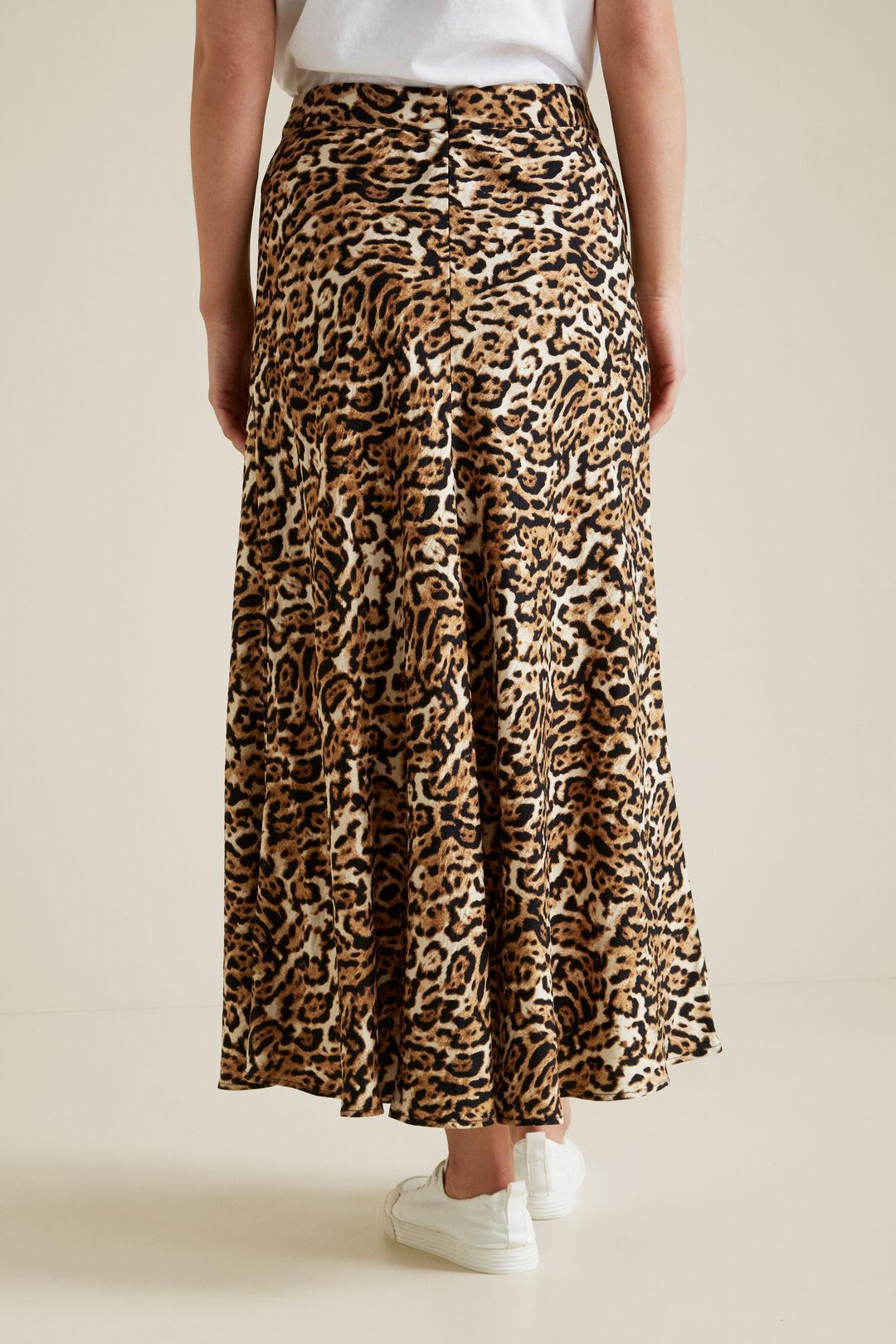 Printed Swing Skirt  LEOPARD  hi-res