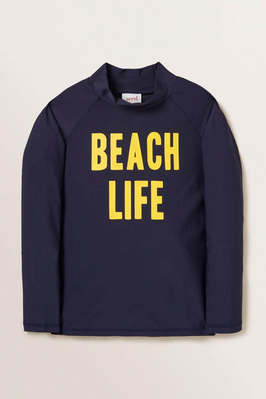 Beach Life Rashvest  MIDNIGHT BLUE  hi-res