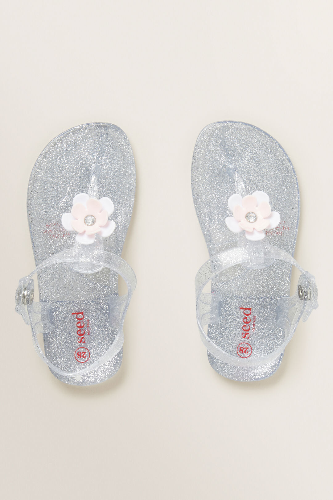 Silver Jelly Sandals  SILVER  hi-res
